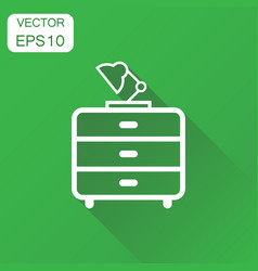 Cupboard with lamp furniture icon business vector