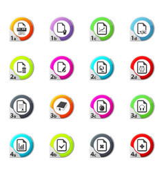 documents icons set vector image
