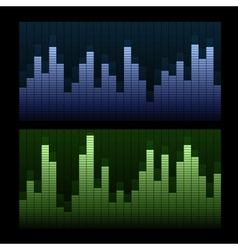 Equalizer background vector image vector image