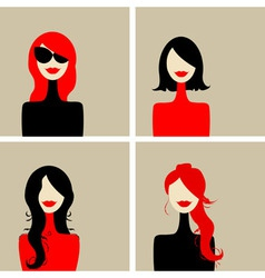Fashion woman portrait vector