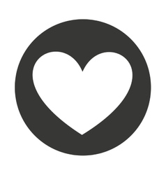 heart love silhouette isolated icon vector image