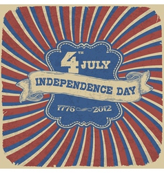 independence day retro style vector image vector image