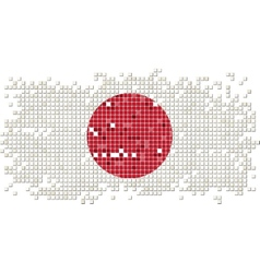 Japanese grunge tile flag vector