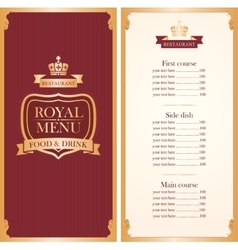 menu for a cafe or restaurant vector image vector image