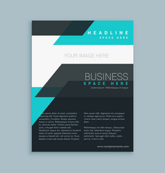 minimal modern business flyer brochure design vector image vector image