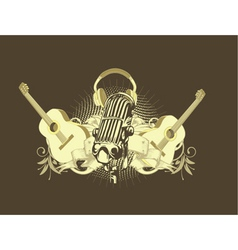 music t-shirt design vector image vector image