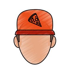 Pizza clothes messenger vector