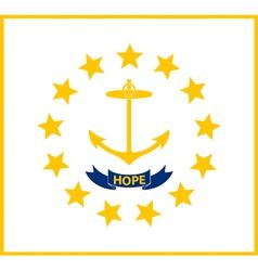 Rhode Islander state flag vector image
