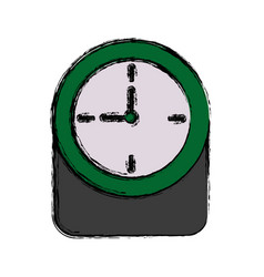 round clock time hour timer decoration element vector image