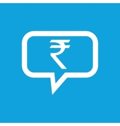 Rupee message icon vector