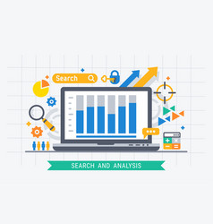 search and analysis vector image vector image