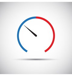 Simple thermometer icon pointer vector image