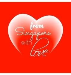 Singapore love vector image
