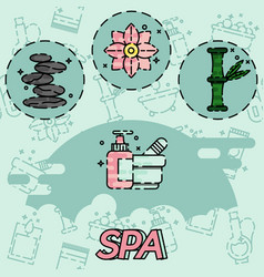 Spa flat concept icons vector