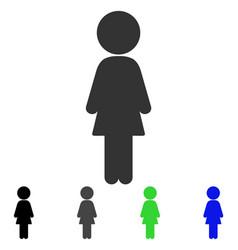 Standing girl flat icon vector