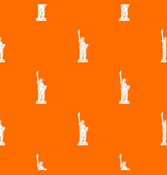 Statue of liberty pattern seamless vector