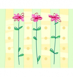 Styled flowers background vector