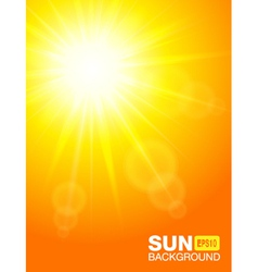 Sun background vector image vector image