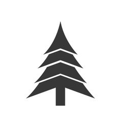 Pine tree merry christmas icon graphic vector