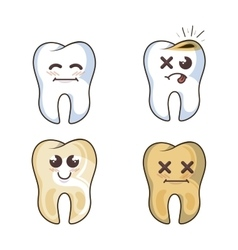 human tooth character icon vector image