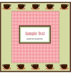 A card with coffee cups vector image