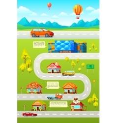 Orthogonal Car City Poster vector image
