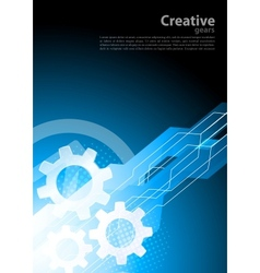 Blue tech background vector image