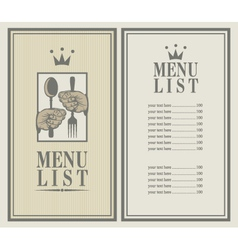 king menu vector image