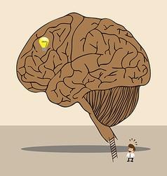 Brain labyrinth to secret idea vector image