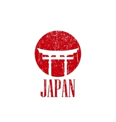 Vintage with japan gate vector