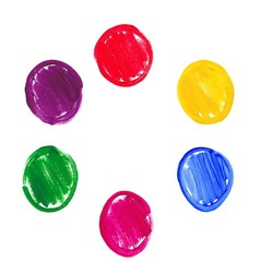Color acrylic round spots vector