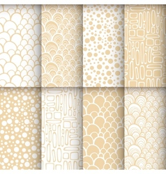 Geometric seamless patterns set neutral vector