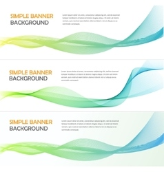 Three absrtact banners with gradiented webs vector