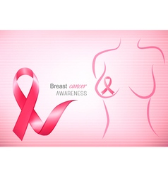 Breast cancer pink background - an awareness vector