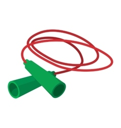 Skipping rope cartoon icon vector