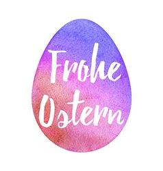 Elegant watercolor easter greeting card vector