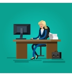 Detailed character corporate business team vector
