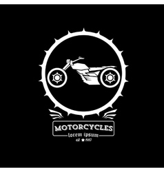Vintage motorcycle label or badge vector