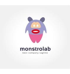 Abstract cartoon monster logo icon concept vector