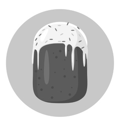 Cake icon gray monochrome style vector image vector image