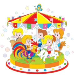 Carousel vector image