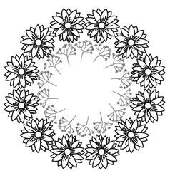 circular frame deoration floral vector image