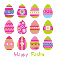 Easter eggs in vector image vector image