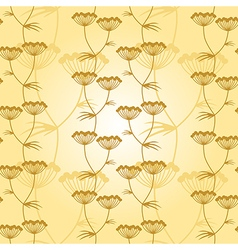 Flower pattern gold vector