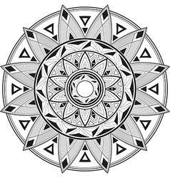 Geometric mandala vector