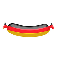 German sausage isolated traditional meat delicacy vector