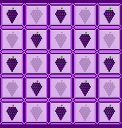 Grapes in the photo frame laid out in the form of vector