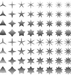 Grey star symbol set vector