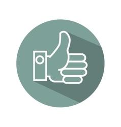 Hand like symbol flat icon vector
