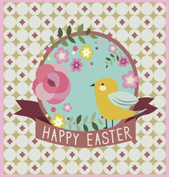 Happy Easter design with bird vector image